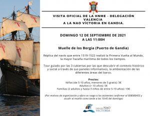 Lee más sobre el artículo Visita Oficial de la HNME Valencia a la NAO Victoria en Gandía